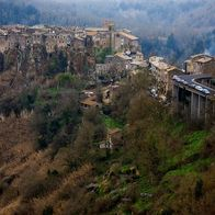 Oh, just a view of some Italian village, Calcata Vecchia, Italy