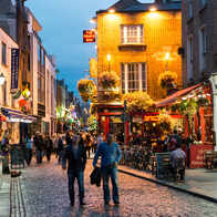 The Temple Bar , Dublin, Ireland