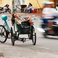 District 5 Cyclo Ride, Ho Chi Minh City, Vietnam