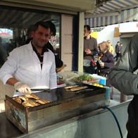 Fish Sandwich Cart, Istanbul, Turkey