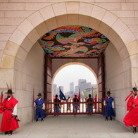 Gwanghwa-mun gate, Gyeongbok-gung Palace, Seoul, South Korea