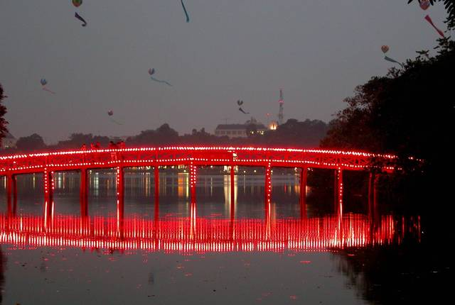 The Huc Bridge, Hanoi, Vietnam