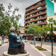 Walter and Albertina Sisulu Statue., Johannesburg South, South Africa