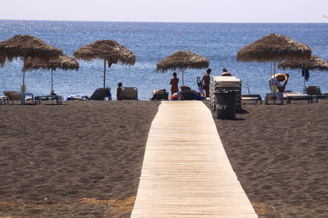Perissa Beach, Perissa, Greece