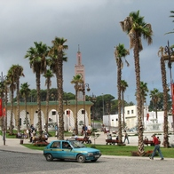 Square in the city of Tangier, Tangier, Morocco