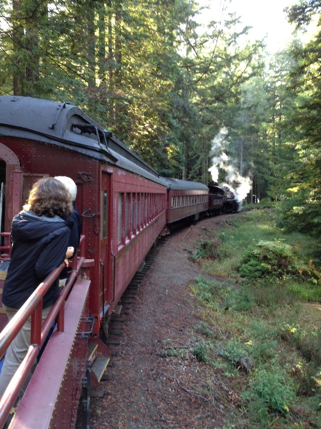 The Skunk Train, Fort Bragg, California