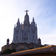 Sagrat Cor and the Tibidabo Theme Park, Barcelona, Spain