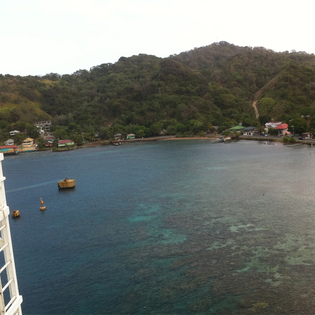 Bay side, Coxen Hole, Honduras