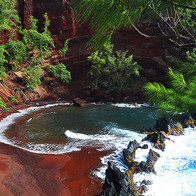 Red Sand Beach, Hāna, Hawaii