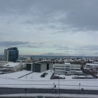 first snow of their season (January), Reykjavik, Iceland