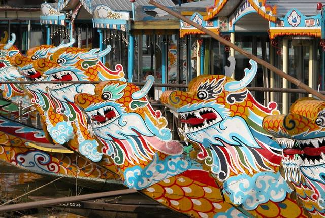 Dragon Boats, Hue, Vietnam