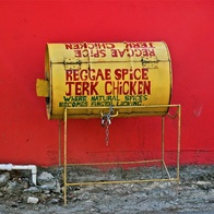 Reggae Spice Jerk Chicken, Kingston, Jamaica
