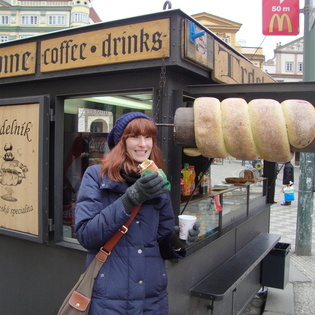Trdelník stand, Prague, Czech Republic