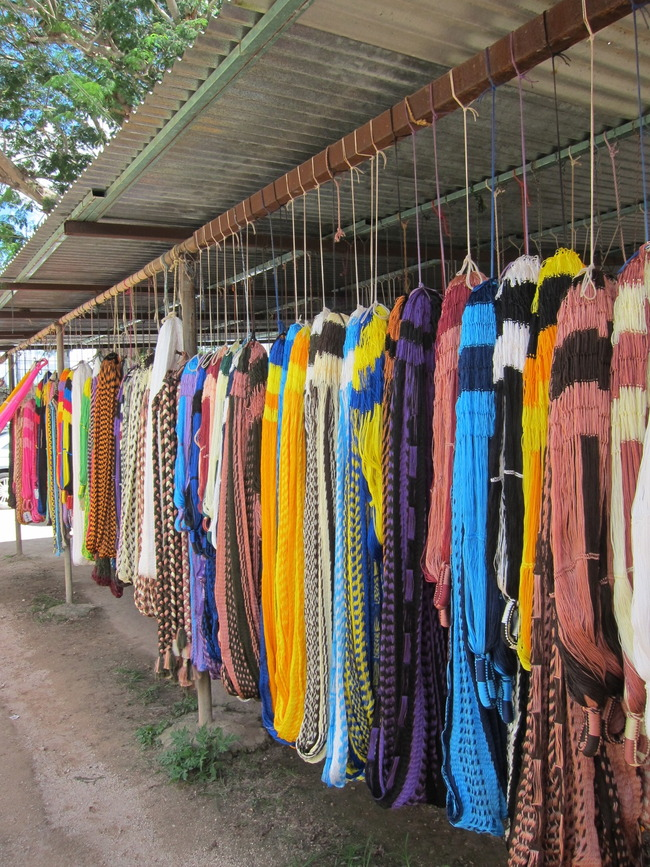 Hammock Stall At A Prison Near Valladolid, Pisté, Mexico