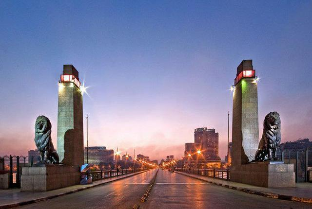 Kasr AL Nile bridge , Cairo, Egypt