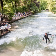 Surfing in Munich, Munich, Germany