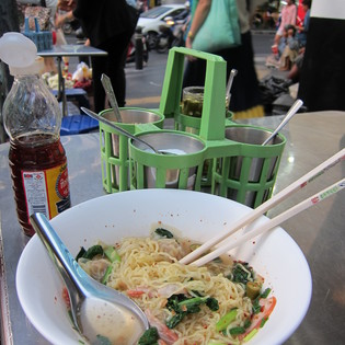 Soup cart at the corner of Silom & Convent Roads, Bangkok, Thailand