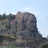 ataturk rock sculpture attraction, Izmir, Turkey