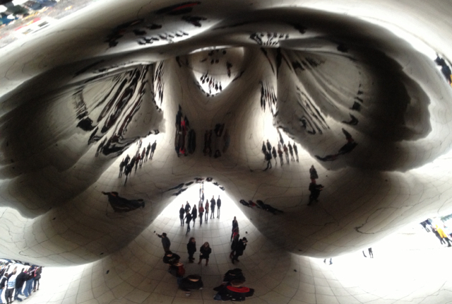 Cloud Gate at Millennium Park, Chicago, Illinois