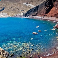red beach, Thira, Greece