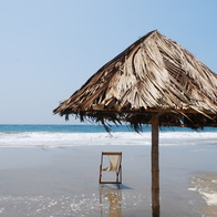 Empty beach in Mancora, Máncora, Peru
