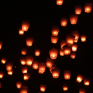 Pingxi Sky Lantern Festival, Pingxi District, Taiwan