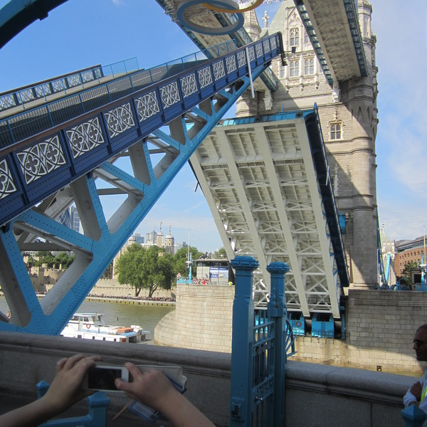 Standing on the Tower Bridge