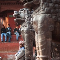 People Watching in Durbar Square, Kathmandu, Nepal