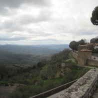 Walk with a view, Montalcino, Italy