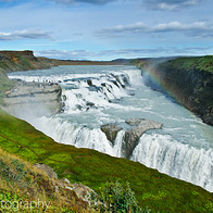 Gullfoss Waterfall, South, Iceland