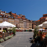 old town square , Warsaw, Poland