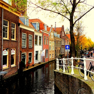 Voldersgracht, Delft, The Netherlands