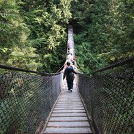Lynn Canyon suspension bridge, North Vancouver, Canada