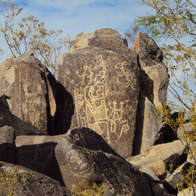 Three Rivers Petroglyph Recreational Site, Tularosa, New Mexico