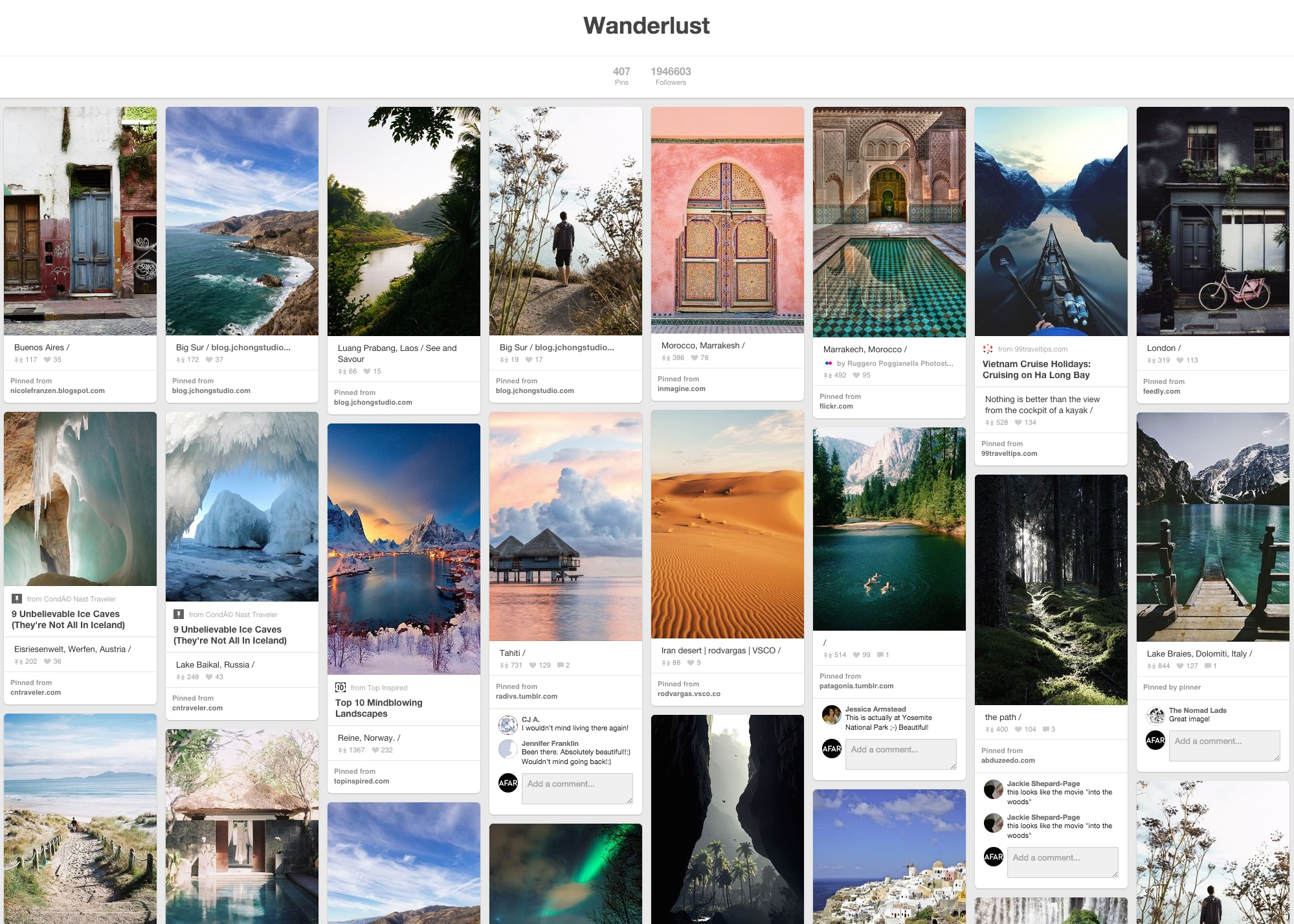 11 Pinterest Travel Boards You Should Follow Right Now