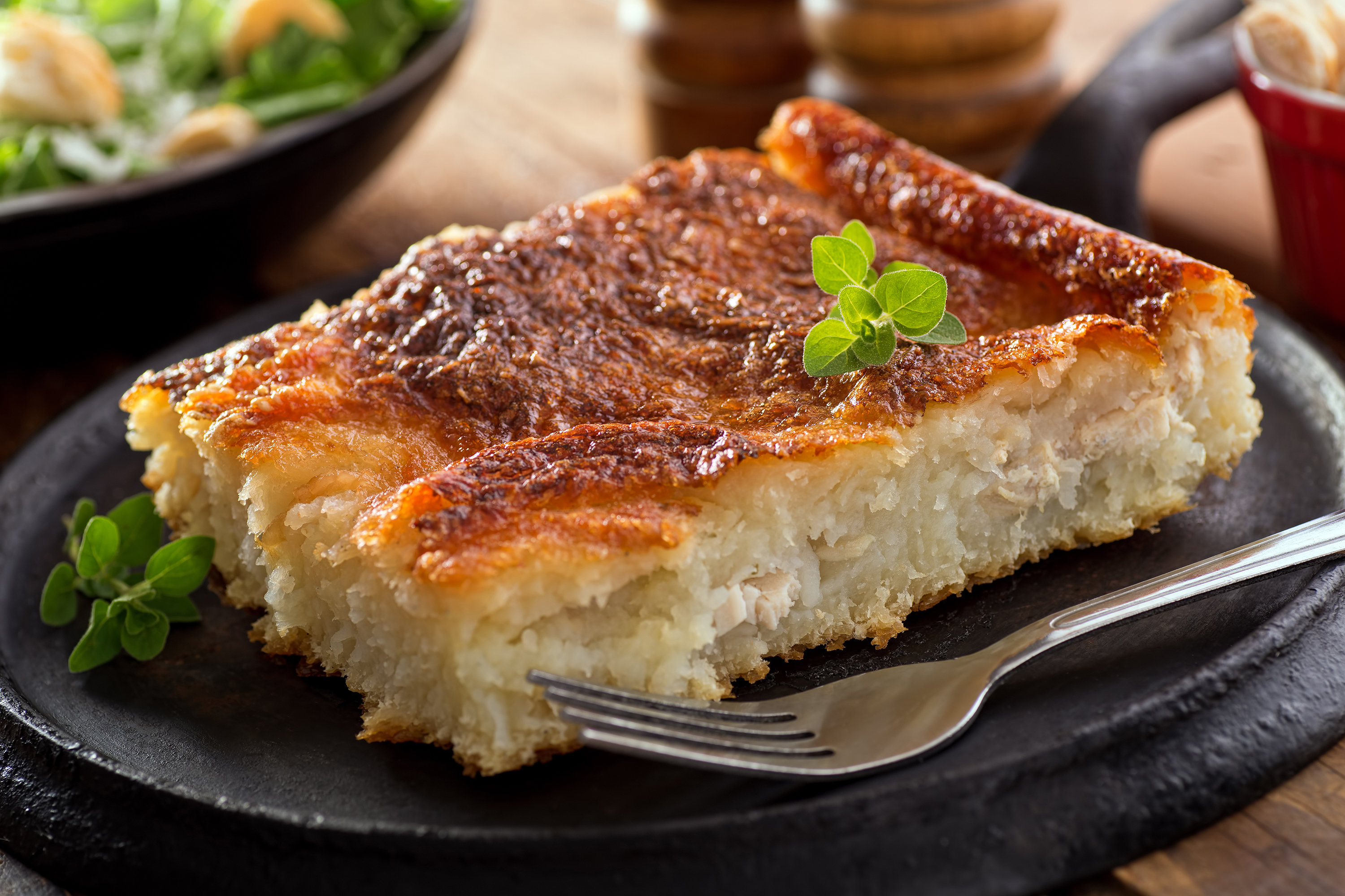 Warm and hearty, rappie pie is particularly excellent in the wintertime.