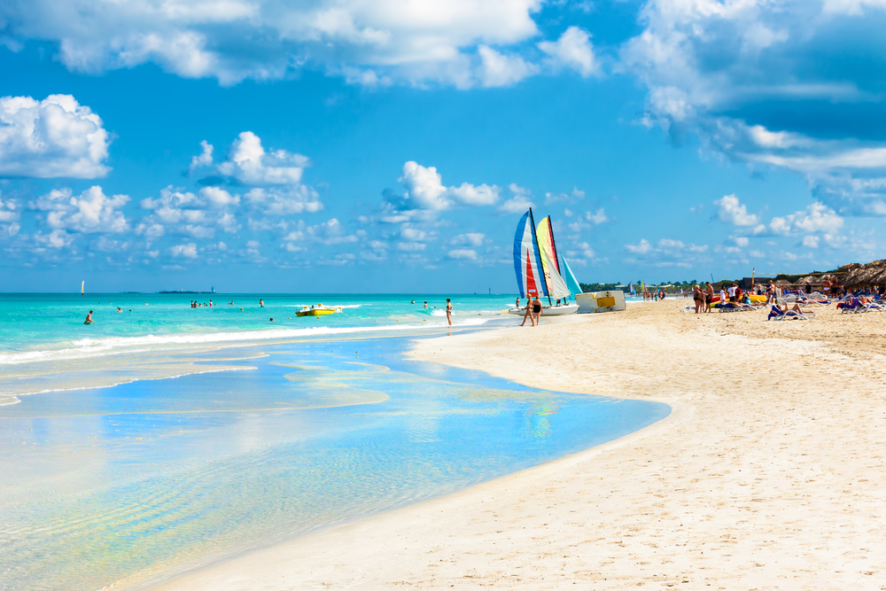 Varadero is one of the most popular beaches in Cuba, thanks to its efficient transportation and local bars.