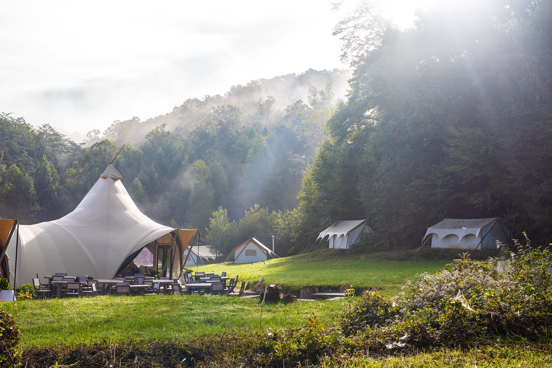 Under Canvas has eight locations across the country, including one near Great Smoky Mountains National Park.