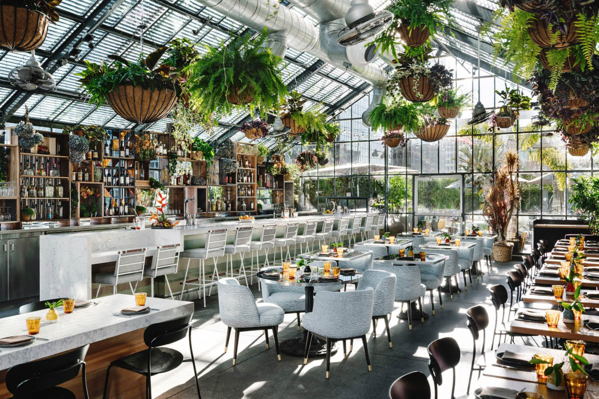Openaire replaced the LINE Hotel's Commissary restaurant at the end of 2018.