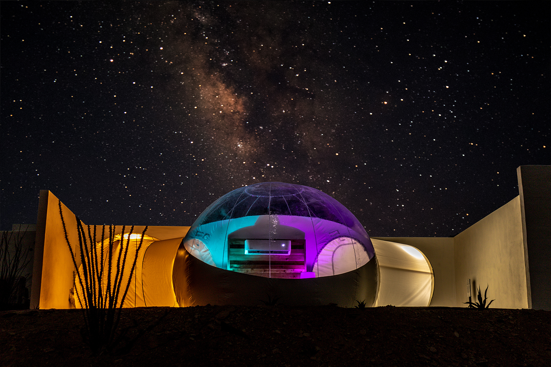 The accomodations at Basecamp Terlingua offer world-class stargazing.